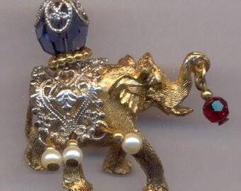 Vintage Napier Circus Elephant Brooch