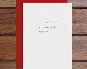 Best Friend Boyfriend Love (Letterpress)