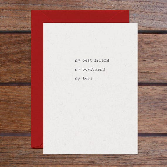 Best Friend Boyfriend Love (Letterpress)