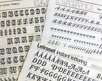 Bookman Bold is a  Vintage Letraset Instant Lettering Rub Off Alphabet Sheet