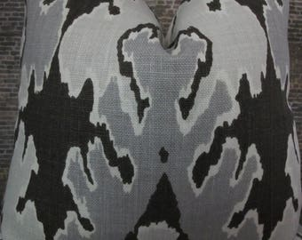 Designer Pillow Cover - KW Groundwork Lee Jofa Bengal Bazaar Graphite