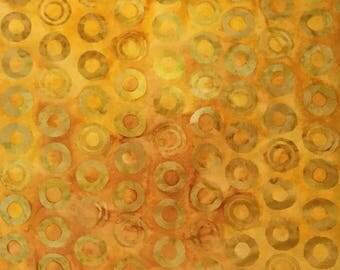 Robert Kaufman Batik Fabric, 1/2 Yard, Goldfish, Artisan Batiks, Quilting, Batik, Sewing
