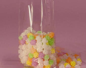 GLAM SALE 50 Large Clear Cello Bags, Cello Favor Bags, Cello Popcorn Bags, Cello Candy Bags, Cello Gift Bags, Cello Packaging Bags