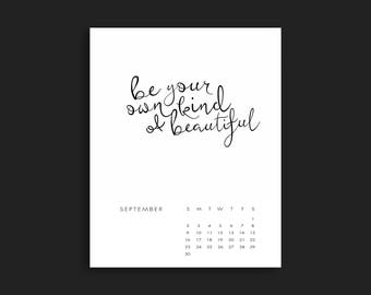 2018 Quote Calendar Instant Download