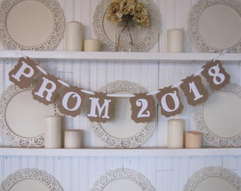 PROM 2018 Banner, Prom 2018 Sign,  Prom Photo Prop, Prom Decoration, High School Prom