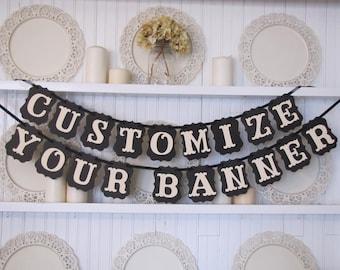 Custom Banner, Baby Name Sign, Custom Name Sign, Photo Prop, Custom sign, Wedding Sign, Party Decoration, Wedding Decoration,