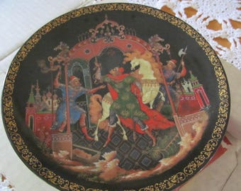 Vintage Russian Fairytale, Legends Plate by Tianex The Golden Bridle