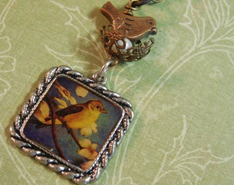 Goldfinch necklace