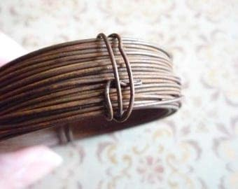 22 Gauge Rusted Steel Tin Wire - 30 Foot Strand -  Large Coil