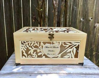 Wedding Card Box - Letter Box - Laser Cut Box - Mr. & Mrs. Wedding Box - Wishing Well Box - Wedding Money Box - Wedding Advise Box