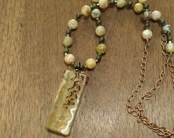 Jasper and Agate Necklace (N1223)