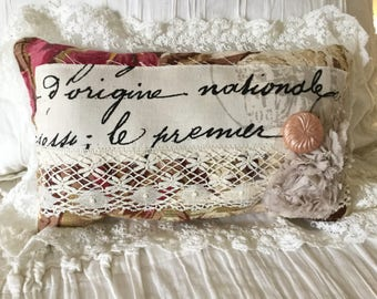 Vintage French Pillow