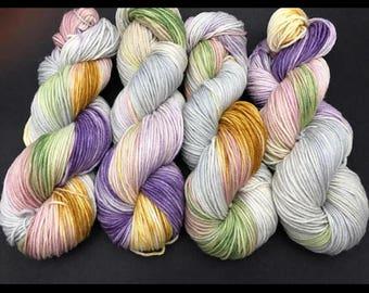 Trevor Morgan DK, Hand Dyed Yarn, DK weight, Superwash Merino, Number 3, 8 ply, Hand dyed, Light Worsted, Carousel Ride