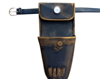 Steampunk TOY gun holster with belt fits Nerf Disruptor and Strongarm, those NOT included