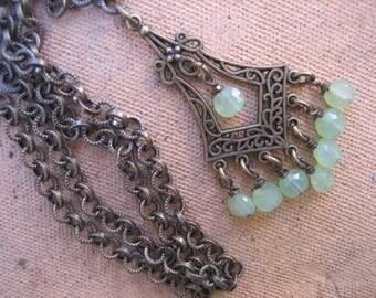 15%off 1920s PENDANT NECKLACE boho necklace Downton Abbey style