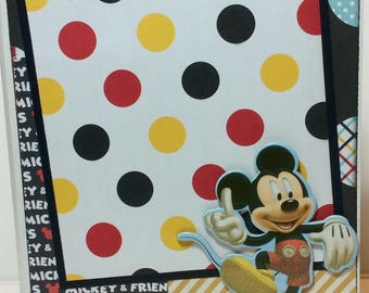 Disney scrapbook mickey mouse premade pages chipboard book- 6 x 8 1/2 echo park  simple stories album