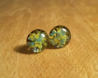 Glass Starburst Post Earrings