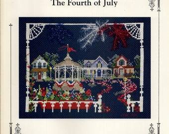 Judith M Kirby: Victorians House Number 11 - The Fourth of July (OOP) - Cross Stitch Pattern