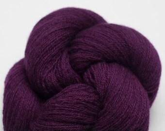 Purple Iris Recycled Cashmere Lace Weight Yarn, CSH00281