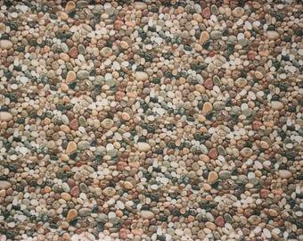 Quilting Fabric, Pebble Fabric, Elizabeth Studio Fabric, Landscape Fabric, Stones Fabric, Sewing Fabric, Novelty Fabric, Nature Fabric