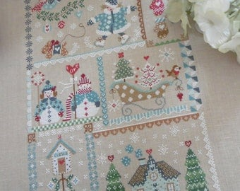 PDF Winter in Quilt counted cross stitch patterns by Cuore e Batticuore e-pattern at thecottageneedle.com embroidery instant download