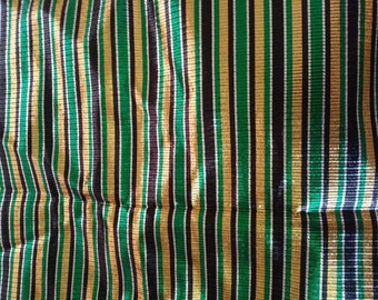 striped lame gold, black, silver and green