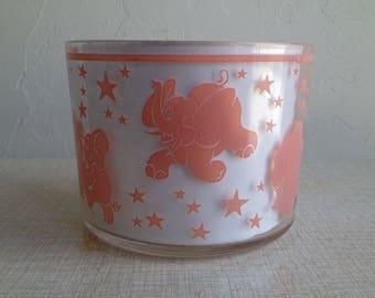 1950's Pink Elephant Ice Bucket