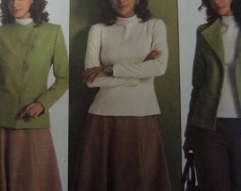 PRINCESS SEAM DRESS Pattern • Vogue 8343 • Miss 6-10 • Straight Leg Pants • Top & Skirt • Sewing Pattern • Modern Patterns • WhiletheCatNaps