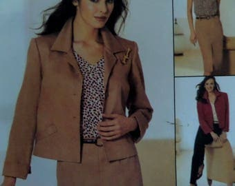 STRAIGHT SKIRT Pattern • McCalls 3600 • Miss 14-20 • Dart-Fit Pants • Short Jacket • Sewing Patterns • Modern Patterns • WhiletheCatNaps