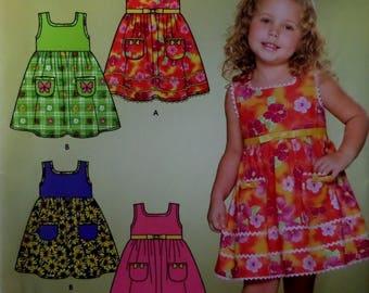 SLEEVELESS DRESS Pattern • Simplicity 4253 • Girls 3-8 • Sundress • High Waist Dress • Sewing Pattern • Childrens Patterns • WhiletheCatNaps