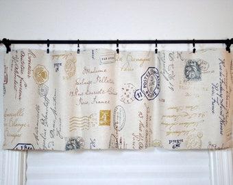 Postscript Valance Kitchen Curtain Kitchen Valance french Postscript Valance