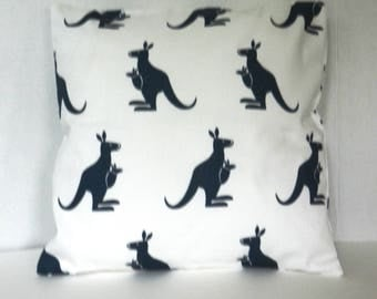 Child's Kangaroo Throw Pillow Cover ,  Premier Prints Fabric, 14 inch with invisible zipper closure for bed, sofa, chair