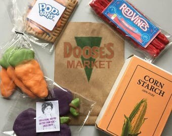 Doose's Market Dog Treats Gilmore Girls Themed Dog Treat Box - Taylor Doose - Stars Hollow - Red Vines - Poptart - Cornstarch - Rory Lorelai