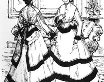 1874 Bustled Dinner Gown Pattern
