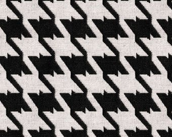 Houndstooth Upholstery Fabric - Coordinated Fabrics for Home Furnishings - Houndstooth Fabric -  Color:  Bohemian Caviar - Per yard
