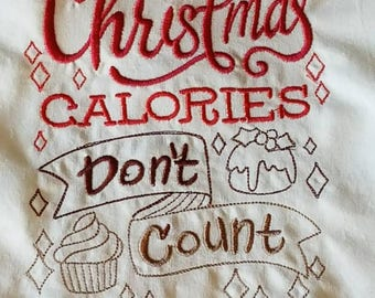Kitchen Flour Sack Towel, Christmas Kitchen Towel, Christmas  Embroidered Cotton Dish Towel, Christmas Flour Sack Towel