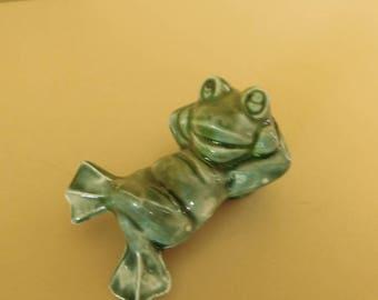 Ceramic Pipe, Handmade ceramic pipe incognito  as a frog