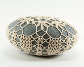 Crochet Stone Pattern, DIY, Lace Stone Cover Pattern, Rock Cozy Pattern, Tiara, Beach house decor, Tabletop decor, bowl element