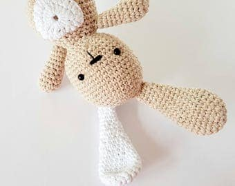 Easter Bunny, Crochet Bunny, Amigurumi Bunny, Rabbit Toys, Crochet Bunny Doll, Gift for Kids, Stuffed Bunny, Cotton Bunny, Beige Toy