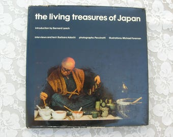 Japanese Craft Artists Book, Living Treasures of Japan,14 artists skilled in traditional crafts, color photos,hardcover illustrated art book