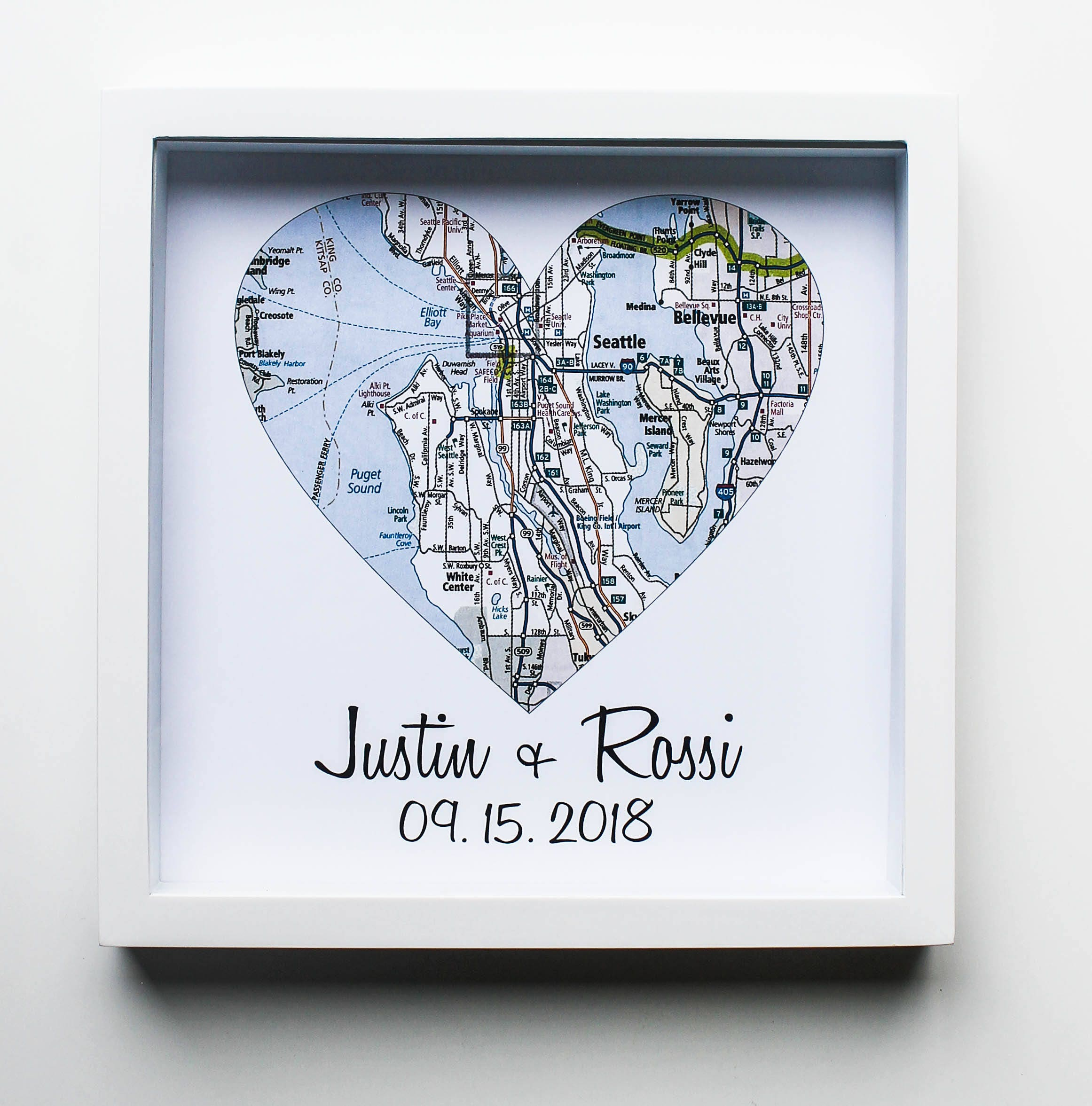 Wedding Gifts For Couples Map Art Print FRAMED Unique Wedding