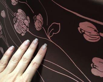 "Art Nouveau Motif Silk Knit, 45"""
