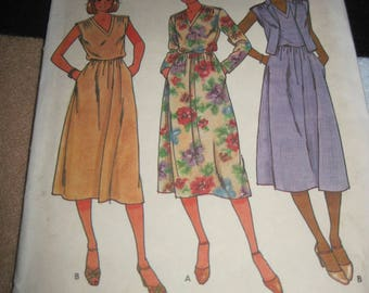 Vintage BUTTERICK Pattern #6376...sz.8...dress V neck....1970's/80's....#34....