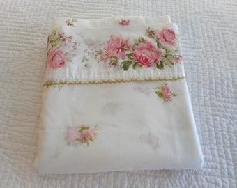 vintage bed full size flat sheet