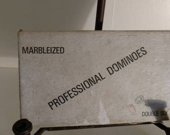 Marbleized Professional Dominoes Double Six