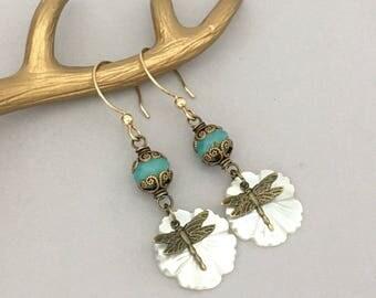 Everyday Earrings for Women - Boho Dangle Earrings - Gift for Her - Lightweight Botanical Earrings - Flower Earrings - Bohemian Earrings