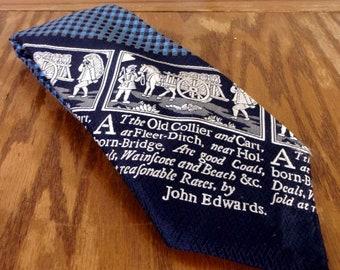 "vtg 70s LOUD graphic John Edwards Wide Polyester Tie Men's Necktie 62"" 4.5"""