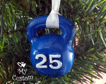 Kettlebell Christmas Ornament