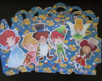 Do It Yourself  Peter Pan and Friends Inspired Gable Favor Boxes Set of 24