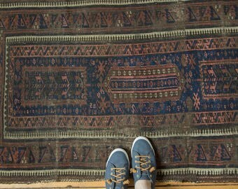 2.5x5 Antique Belouch Rug Runner